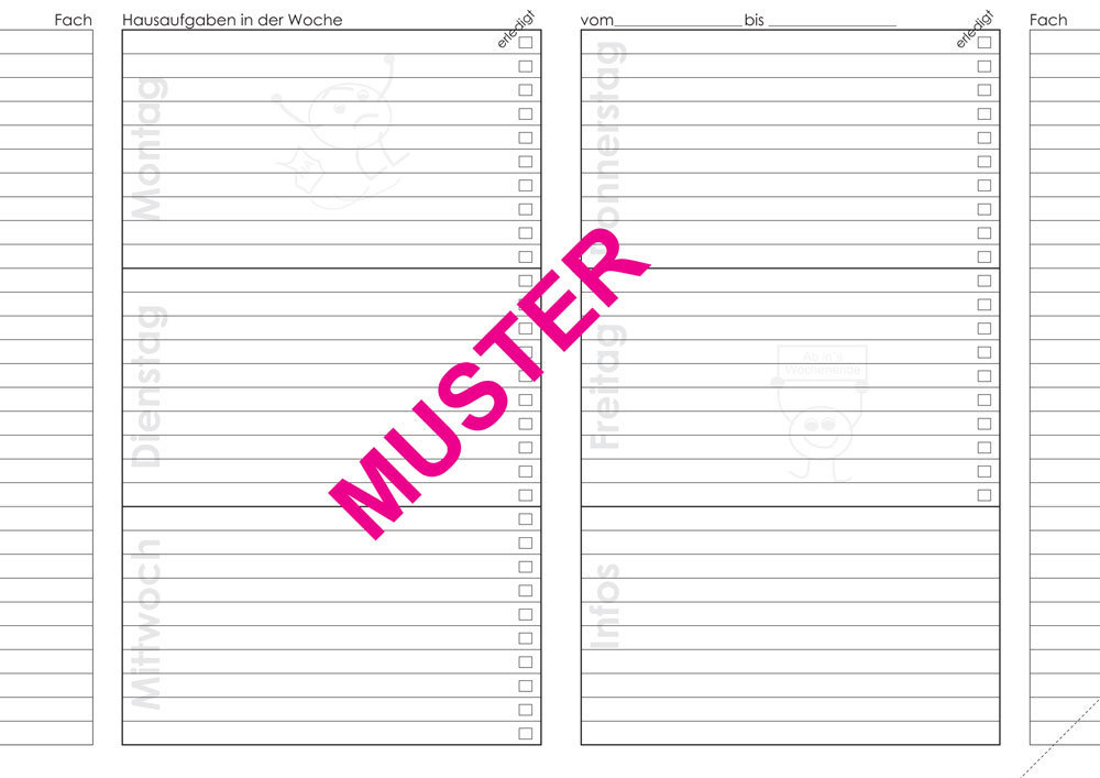 schulindividueller Timer / Hausaufgabenheft A5 - Seibert Verlag