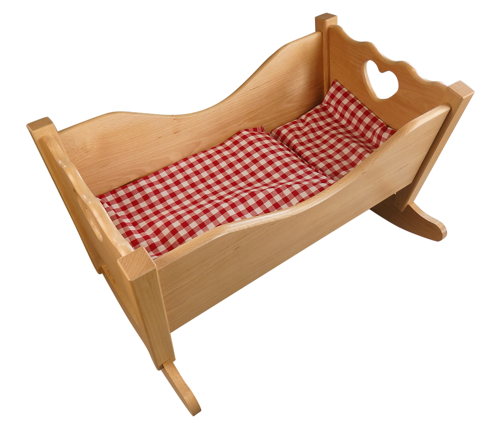 puppenwiege aus holz f r kinder ab 1 jahr kaufen. Black Bedroom Furniture Sets. Home Design Ideas